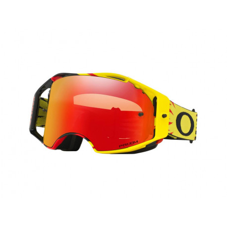 Masque OAKLEY Airbrake MX High Voltage Yellow/Red écran Prizm MX Torch Iridium