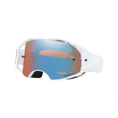 Masque OAKLEY Airbrake MX Whiteout écran Prizm MX Sapphire Iridium