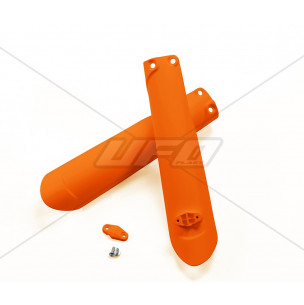 Protections de fourche UFO orange fluo KTM