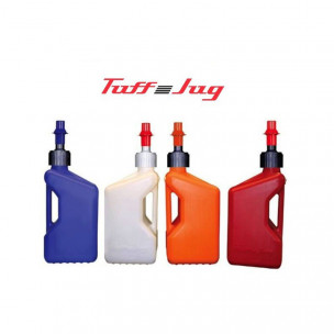 Bidon d'essence TUFF JUG 10L ou 20L couleur: TRANSLUCIDE / ORANGE / BLEU / ROUGE - bouchon remplissage rapide