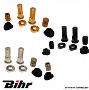 Kit écrou pour gripster BIHR Noir - Alu ou Or avec capuchon et joints de valve