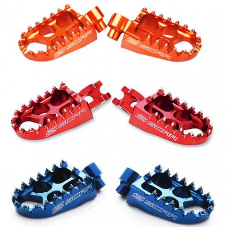 Repose-pieds SCAR Evolution bleu ou orange KTM/Husqvarna