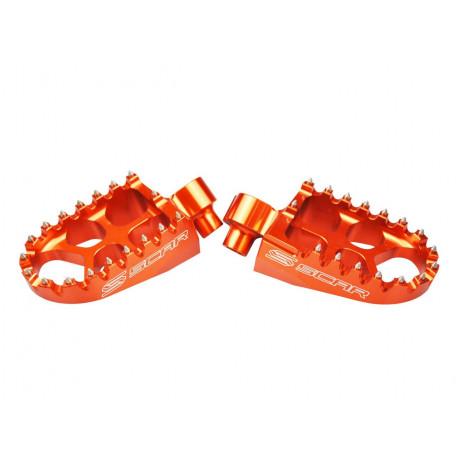 Repose-pieds SCAR Evolution orange KTM SX85 - FREERIDE 250R / Husqvarna TC85