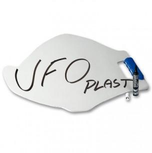 Panneautage UFO blanc avec marqueur